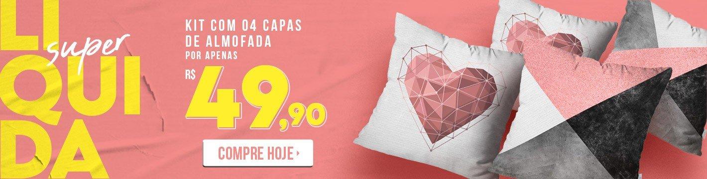 lado rosa liquidacao promo kit 4 capas almofadas d